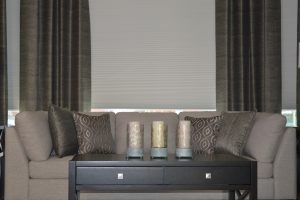 Living Room Interior Design with e-power automation blinds